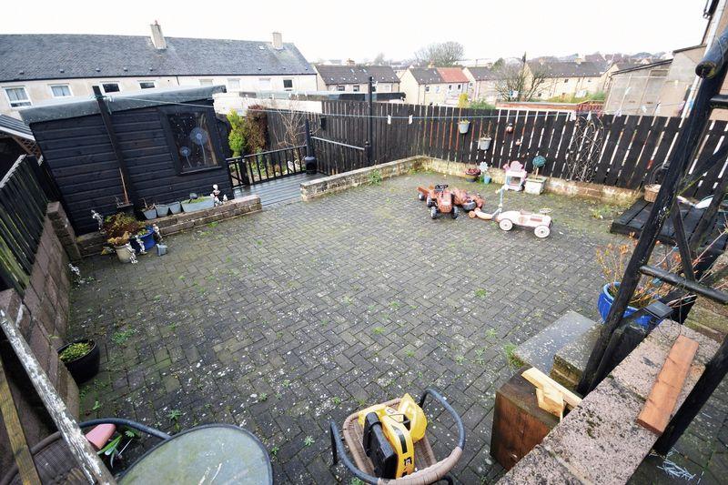 106 Rae Street, Cowdenbeath Back Garden